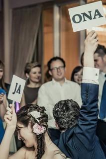 Prostokątne tabliczki do zabawy weselnej