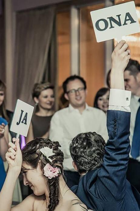 Drewniane tabliczki do zabawy weselnej