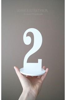 Numery stołów weselnych - wzór 3