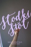 """Napis """"Słodki Stół"""""""