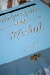 Malowana skrzynia na koperty