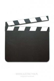 Drewniana tablica - KLAPS FILMOWY