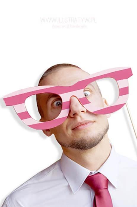 Drewniane okulary - XXL