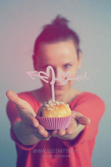 Mini muffin topper - serca