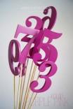 Numery stołów weselnych - wzór 1
