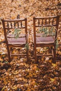 Boho okręgi - ozdoba krzeseł