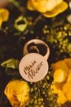 Okrągłe mini pudełeczko na obrączki