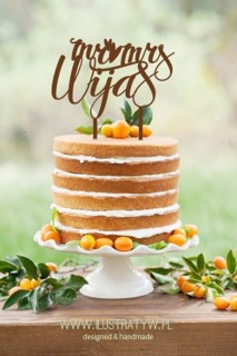 Cake Topper - Napisy