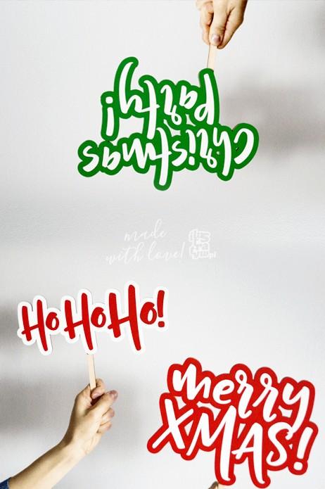 Świąteczny napis do zdjęć