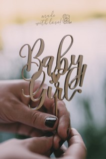 Cake Topper - Baby Girl/Baby Boy
