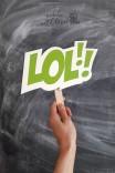 Kolorowy napis - OMG