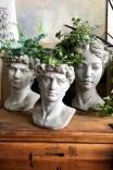 Dekoracyjna osłonka na doniczkę 'Głowa męska S'