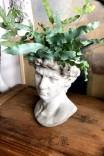 Dekoracyjna osłonka na doniczkę 'Głowa męska L'